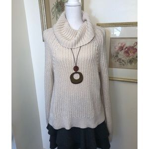 Kendall and Kylie Large Cowl Neck Sweater SzL